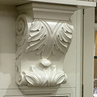 Detailed painted corbel image