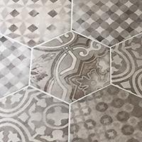 Hexagon tile image