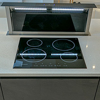 Extractor hood in use image